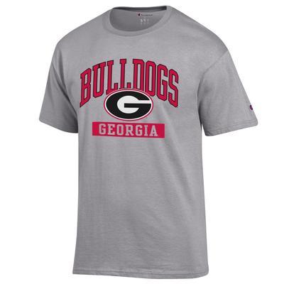 Georgia Champion Men's Arch Bulldogs Tee Shirt