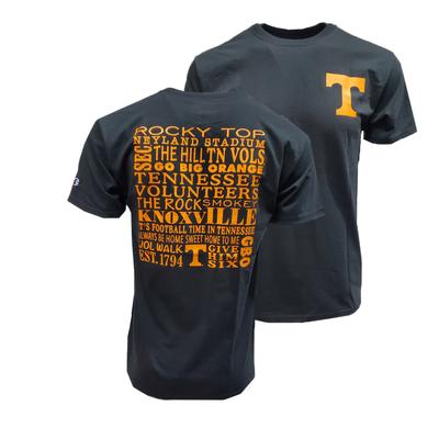Tennessee Champion Men's Vol Words Tee Shirt