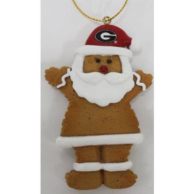 Georgia Resin Cookie Dough Santa Ornament