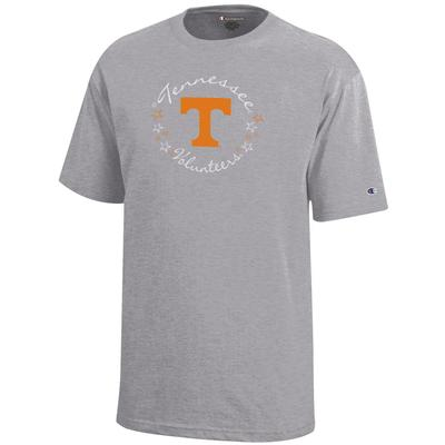 Tennessee Champion YOUTH Circle Stars Script Tee Shirt