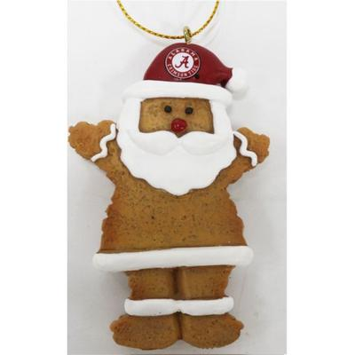 Alabama Resin Cookie Dough Santa Ornament
