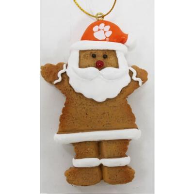 Clemson Resin Cookie Dough Santa Ornament