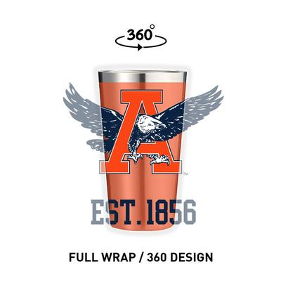Auburn Gametime Sidekicks Vault War Eagle 16 oz Pint Glass Tumbler