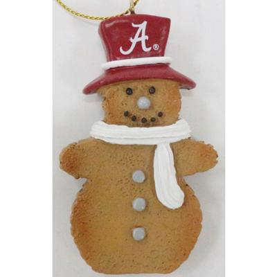 Alabama Resin Cookie Dough Snowman Ornament