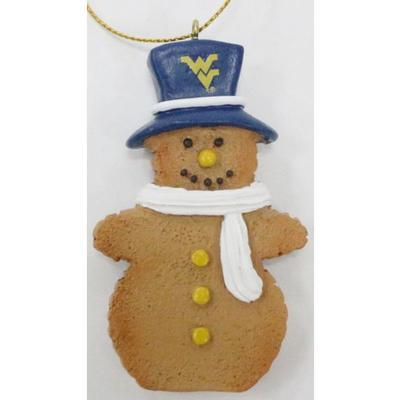 West Virginia Resin Cookie Dough Snowman Ornament