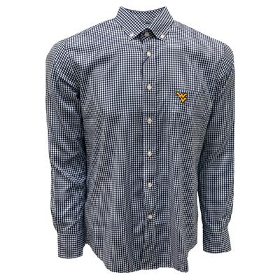 West Virginia Pennington And Bailes Stretch Gingham Long Sleeve