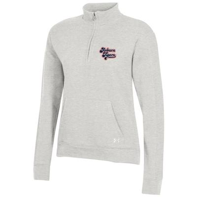 Auburn Under Armour Women's All Day Fleece 1/4 Zip Pullover