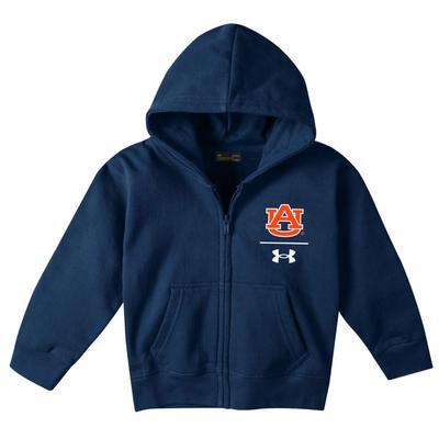 Auburn Under Armour Toddler Fleece AU Logo Full Zip Hoodie