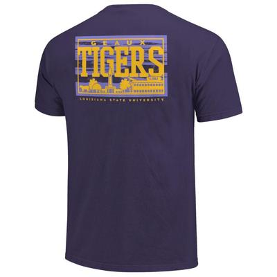LSU Campus Skyline Comfort Colors Shirt