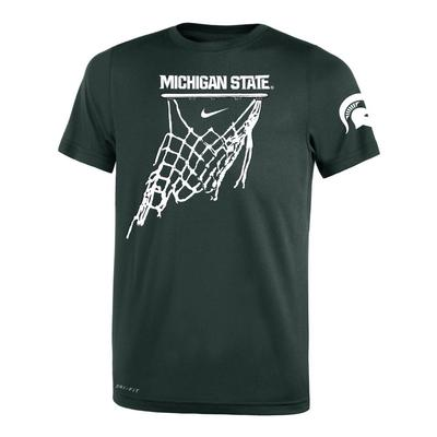 Michigan State Nike Youth Basketball Net Icon Short Sleeve Legend Tee
