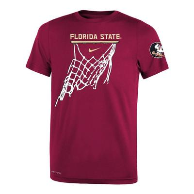 Florida State Nike Youth Basketball Net Icon Short Sleeve Legend Tee