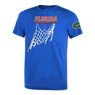 Florida Nike Jordan Brand Youth Basketball Net Icon Short Sleeve Legend Tee