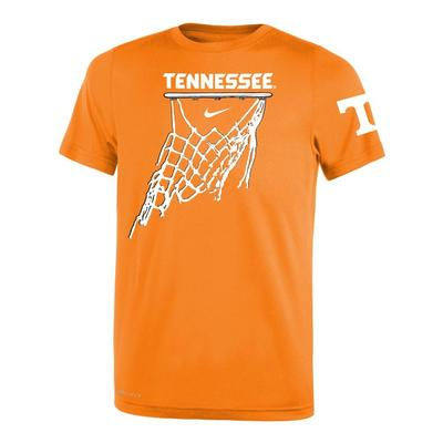 Tennessee Nike Youth Basketball Net Icon Short Sleeve Legend Tee