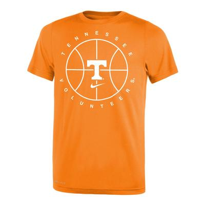 Tennessee Nike Youth Basketball Practice Short Sleeve Legend Tee