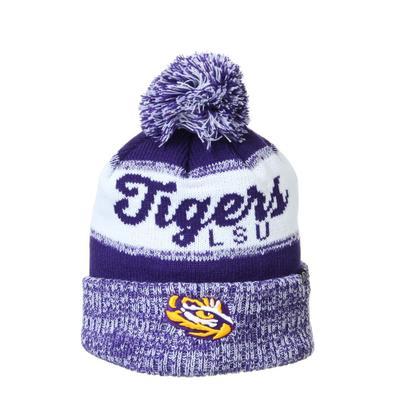 LSU Zephyr Tigers Pom Beanie