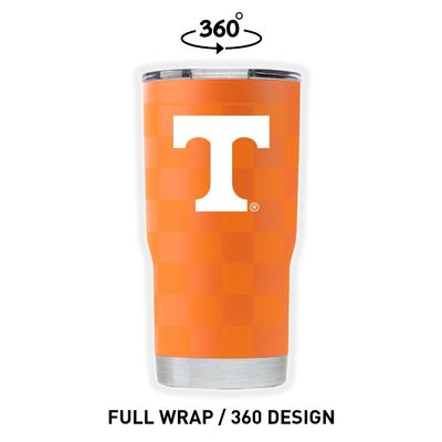 Tennessee Gametime Sidekicks Clear Wrap Checkerboard 20 oz Tumbler