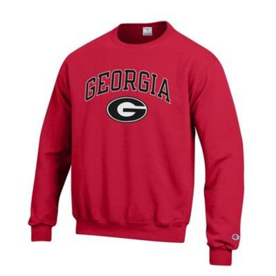 Georgia Champion Arch Logo Fleece Crew