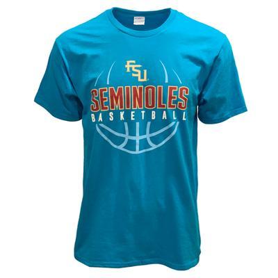 Florida State Seminoles Turquoise Basketball T-Shirt