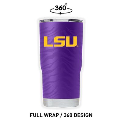 LSU Gametime Sidekicks Tiger Stripes 20 oz Tumbler