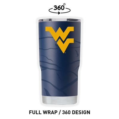 West Virginia Gametime Sidekicks Clear Wrap 20 oz Tumbler