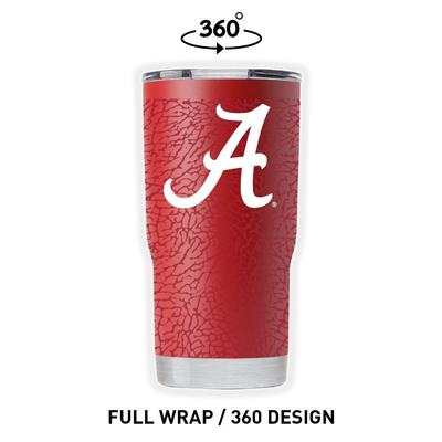 Alabama Gametime Sidekicks Clear Wrap 20 oz Tumbler