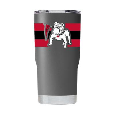 Georgia Gametime Sidekicks Bulldog with Flag 20 oz Tumbler