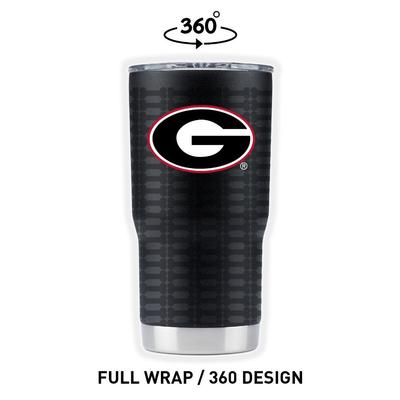 Georgia Gametime Sidekicks Bone Wrap 20 oz Tumbler