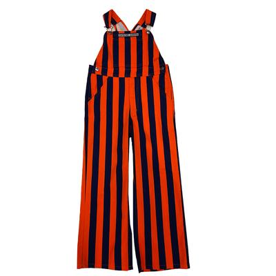 Navy and Orange Youth Game Bibs Striped Overalls