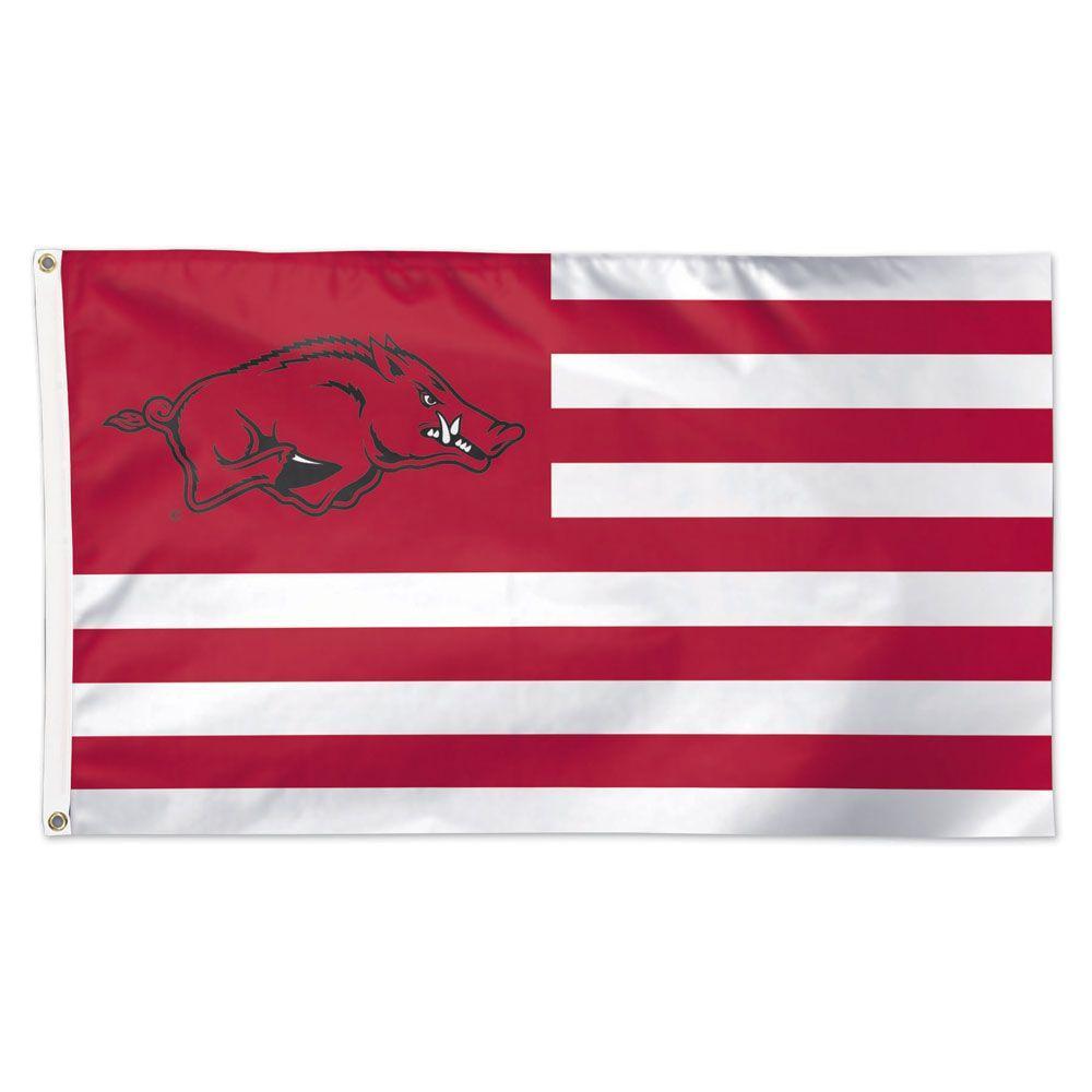 Arkansas Razorbacks Striped Flag