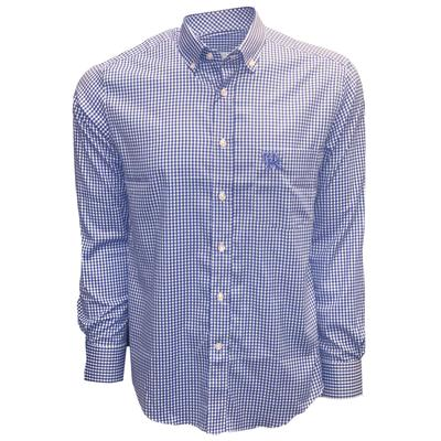 Kentucky Pennington And Bailes Stretch Gingham Long Sleeve