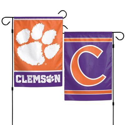 Clemson Double Sided Garden Flag12.5