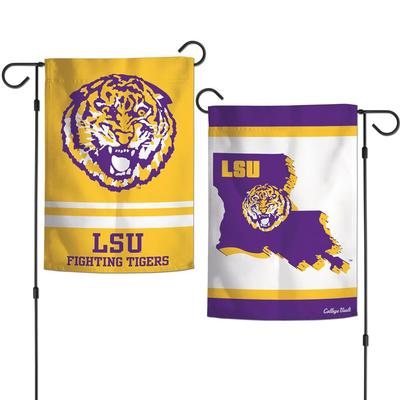 LSU Double Sided Garden Flag12.5