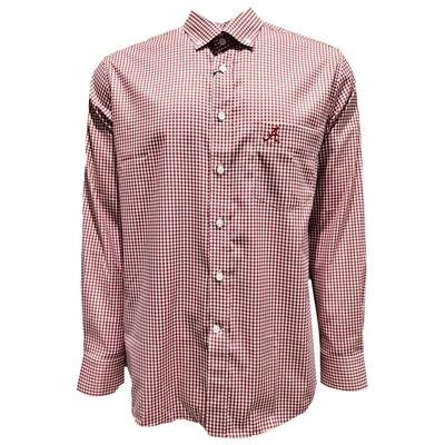 Alabama Pennington And Bailes Stretch Gingham Long Sleeve