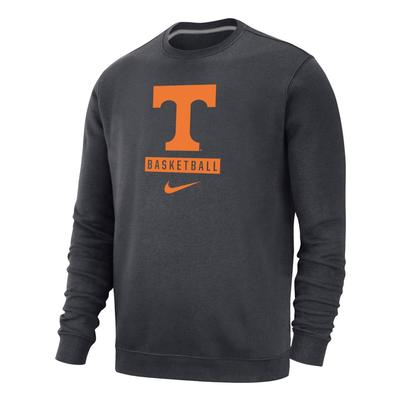 Tennessee Nike Men's Club Fleece Basketball Crew