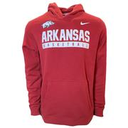 Arkansas Nike Basketball Club Stack Hoody Sweatshirt