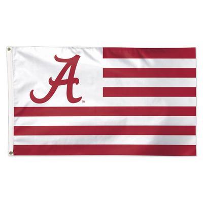 Alabama Logo and Stripes Flag 3' x 5'