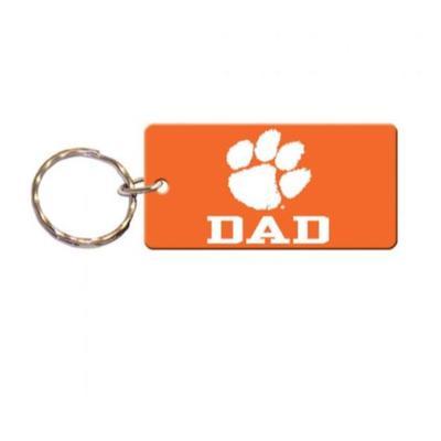 Clemson Dad Key Chain