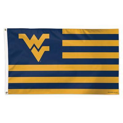 West Virginia Logo and Stripes Flag 3' x 5'