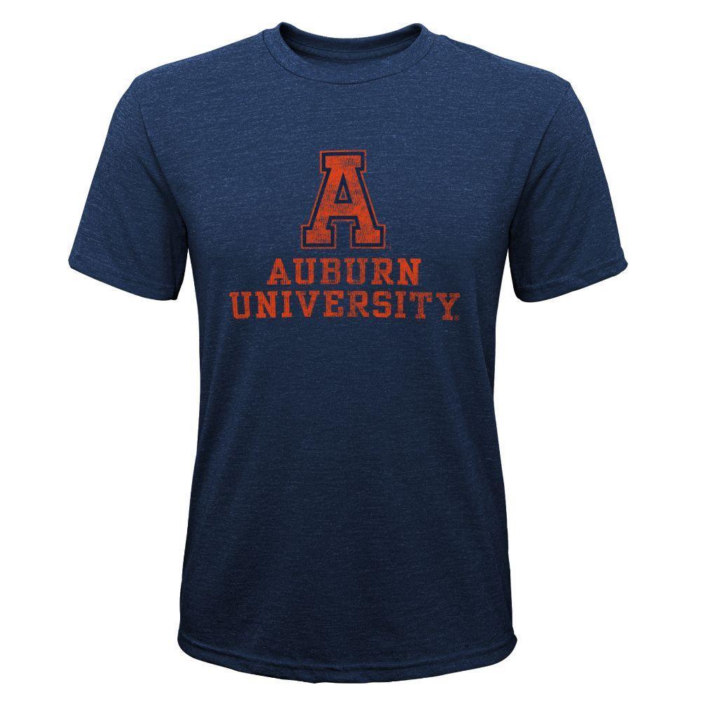 Auburn Youth Boys Vault Tri- Blend Tee Shirt
