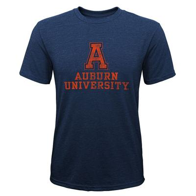 Auburn YOUTH Boys Vault Tri-Blend Tee Shirt