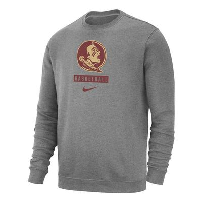 Florida State Nike Club Fleece Basketball Crew