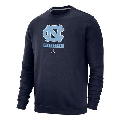 UNC Jordan Brand Club Fleece Basketball Crew