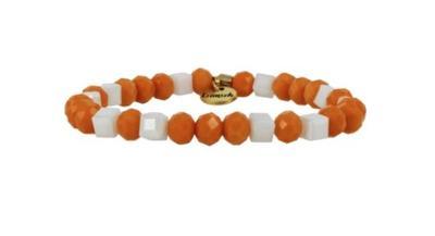 Erimish Orange and White Leslie Stackable Bracelet