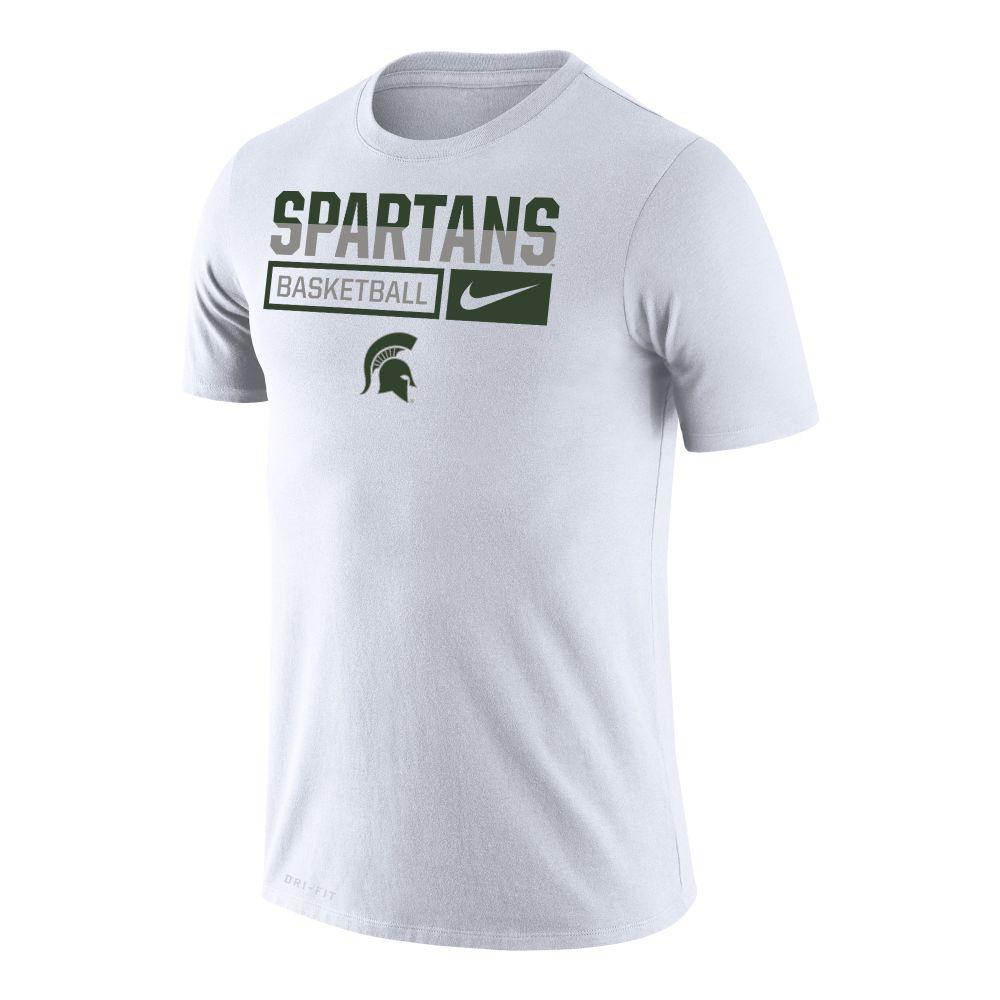 Michigan State Nike Men's Basketball Dri- Fit Legends Short Sleeve Tee