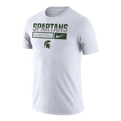 Michigan State Nike Men's Basketball Dri-Fit Legends Short Sleeve Tee