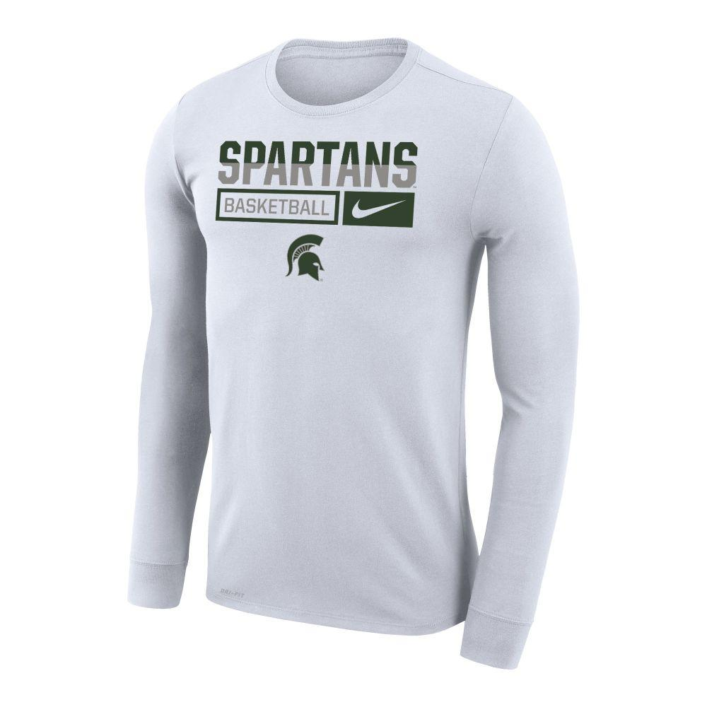 Michigan State Nike Men's Basketball Dri- Fit Legends Long Sleeve Tee