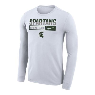 Michigan State Nike Men's Basketball Dri-Fit Legends Long Sleeve Tee