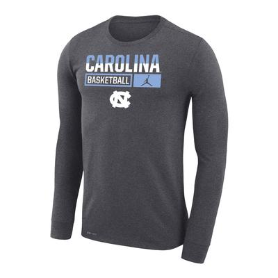 UNC Nike Men's Basketball Dri-Fit Legends Long Sleeve Tee