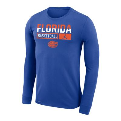 Florida Jordan Brand Dri-Fit Legend Long Sleeve Basketball Tee