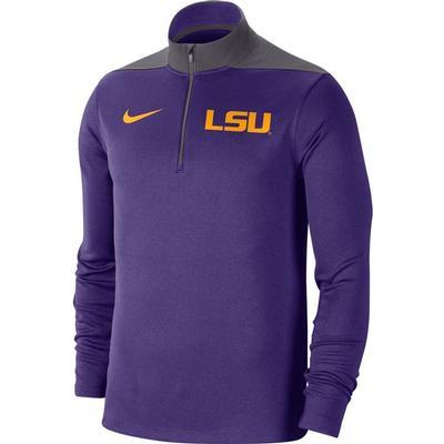 LSU Nike Men's Dri-Fit 1/4 Zip Pullover